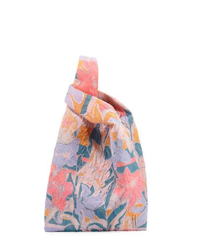 Psychedelic Tech Jacquard Shopper Tote Bag