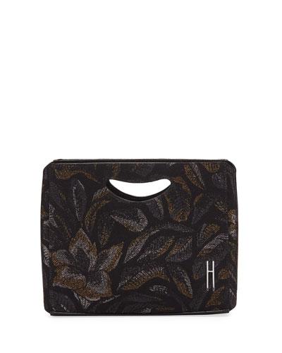 1712 Basket Metallic Jacquard Tech Clutch Bag