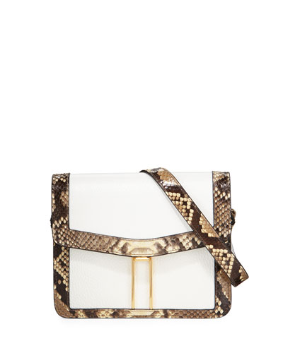Mini H Python Crossbody Bag