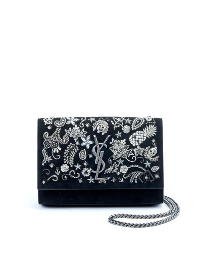 Kate Small Monogram YSL Chain Crossbody Bag with Skeleton Charms