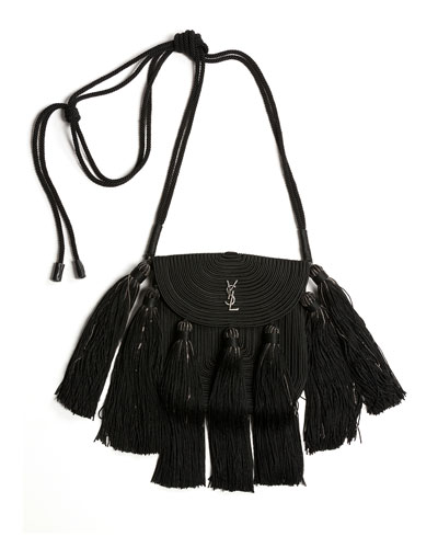 e0cc0c24b980 Vintage Passementerie Small Monogram YSL Shoulder Bag with Tassels -  Silvertone Hardware Quick Look. Saint Laurent