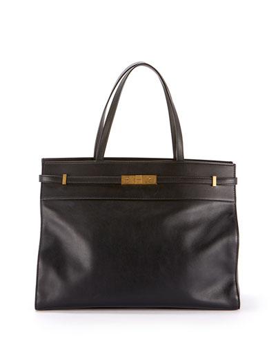 Manhattan Medium Smooth Leather Tote Bag