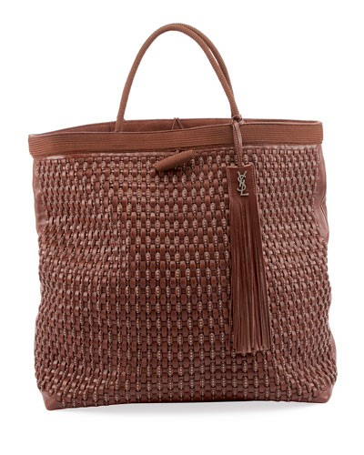 Patti Large Woven Tote Bag