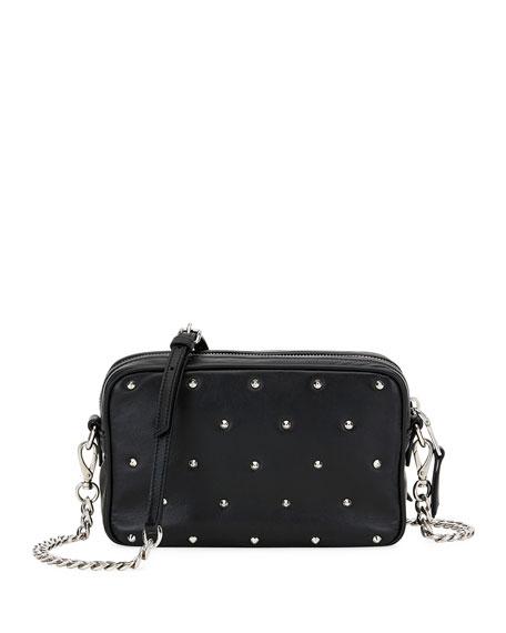 bbc888da808 Miu Miu Jeweled-Stud Leather Crossbody Bag