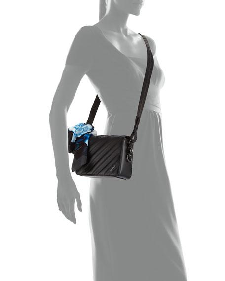 Diagonal Quilted Flap Bag