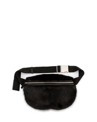 Mink Fur Fanny Pack Bag