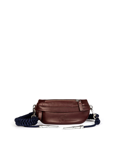 Aiguilette Leather Belt Bag