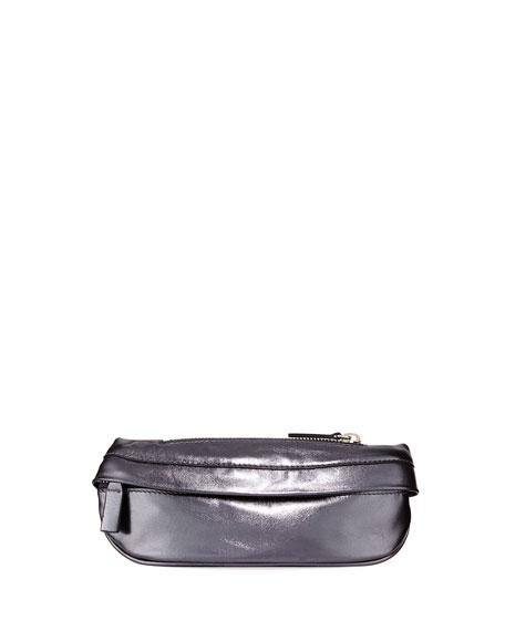 AVEC LA TROUPE Troupe Soft Leather Fanny Pack Bag in Black