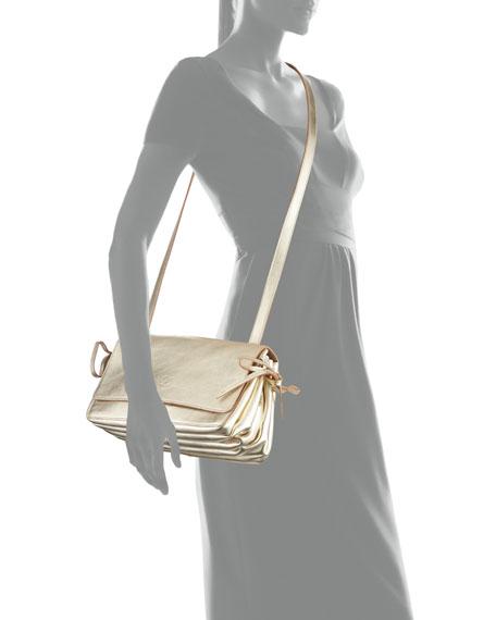 Soffietto Metallic Leather Crossbody Bag