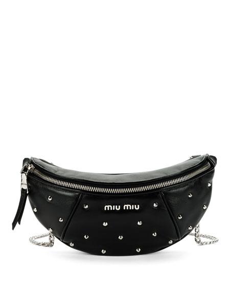 Miu Miu Leather Studded Belt Bag 1c65a0d8a88b8