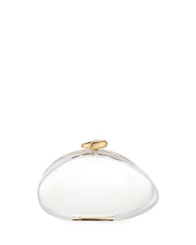 Ariel Transparent Clutch Bag