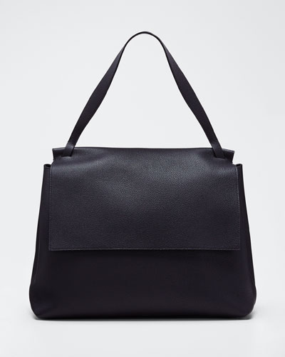14 Two Fine Grained Top Handle Bag