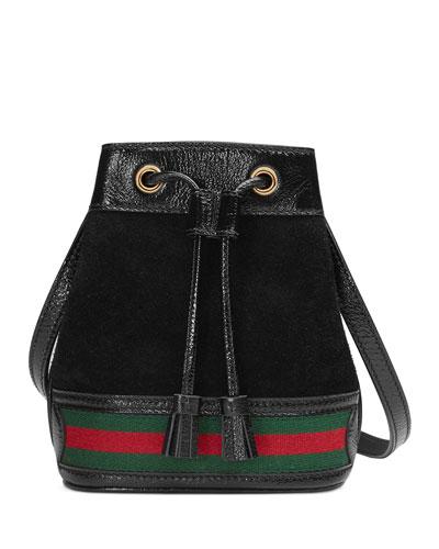 Mini Suede Bucket Bag