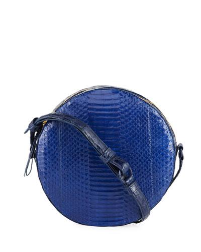 Sienna Snakeskin Circle Crossbody Bag
