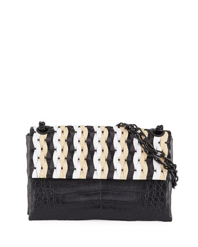 Madison Medium Woven Shoulder Bag