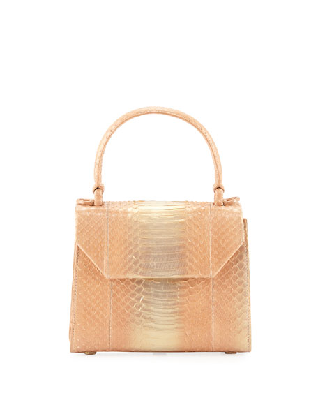 Nancy Gonzalez Lily Small Snakeskin Top Handle Bag
