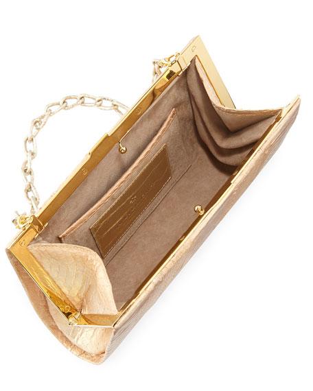 79697d1a04b7 Nancy Gonzalez Colette Exposed Frame Clutch Bag