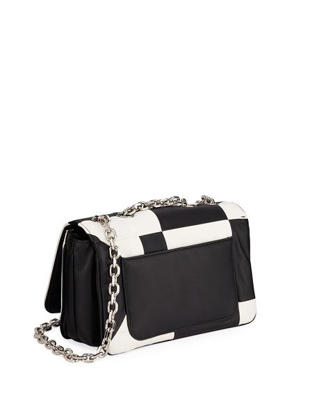 Billie Colorblock Leather Shoulder Bag