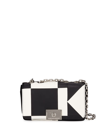 CALVIN KLEIN 205W39NYC Billie Colorblock Leather Shoulder Bag