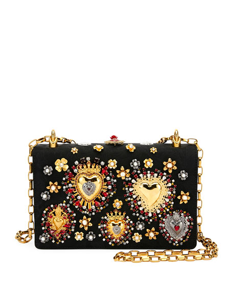 Dolce & Gabbana Brocade DG Girls Embellished Handbag