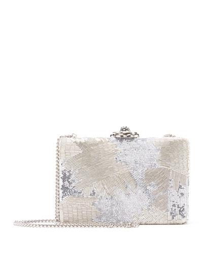 Rogan Beaded Minaudiere Clutch Bag