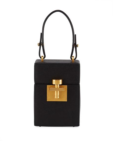 Alibi Box Leather Top-Handle Bag