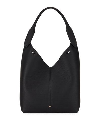 Build A Bag Mini Grain Bucket Bag, Black