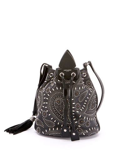 Anja Small Studded Bandana Bucket Bag