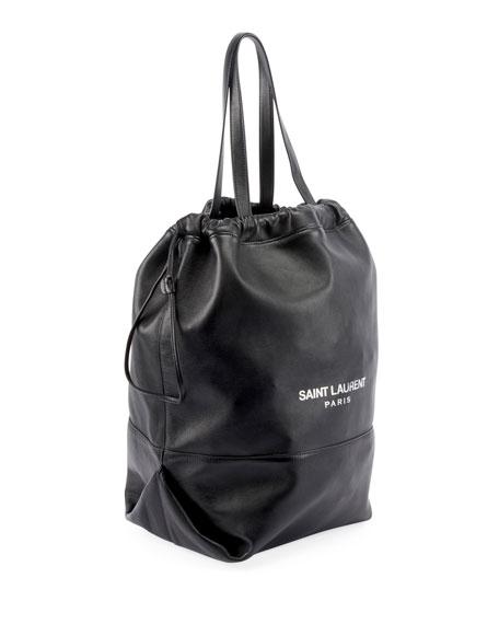 Teddy Drawstring Shopping Tote Bag