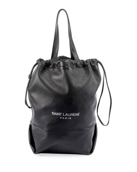 ae473ad67381 Saint Laurent Teddy Drawstring Shopping Tote Bag