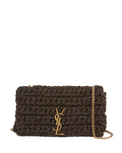 Kate Medium YSL Monogram Cord Napa Crossbody Bag