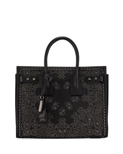 Bandana Studded Leather Satchel Bag