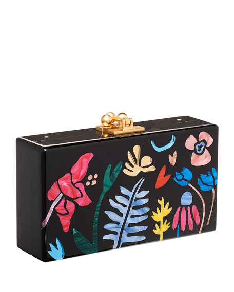 Edie Parker Jean Garden Delight Clutch Bag