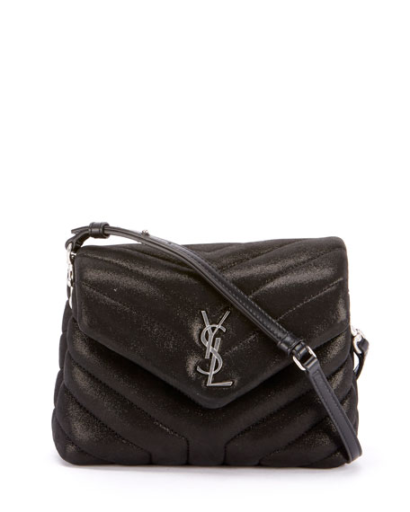 Saint Laurent Loulou Monogram YSL Mini V-Flap Calf