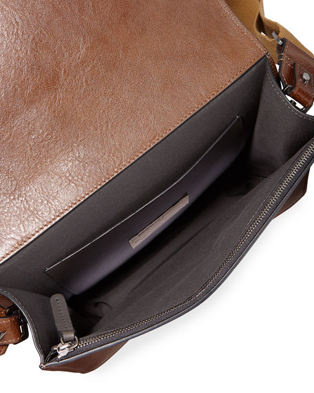 Leather Top-Handle Crossbody Bag