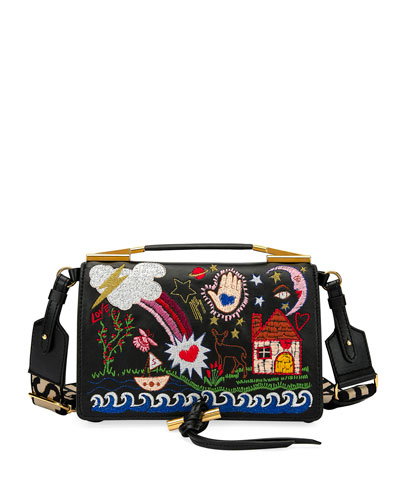 Small Alter Napa Scenery Embroidered Shoulder Bag