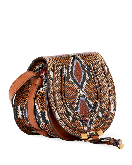 a747622796 Chloe Marcie Small Python-Print Crossbody Bag
