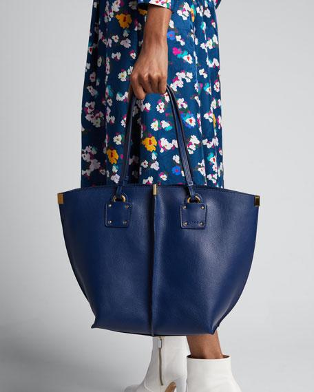 Chloe Vick Wide Leather Tote Bag 0c921c6b2ca8