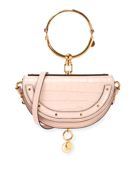 Chloe Nile Metallic Minaudiere Shoulder Bag