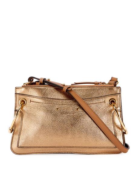 Chloe Roy Metallic Leather Crossbody Bag