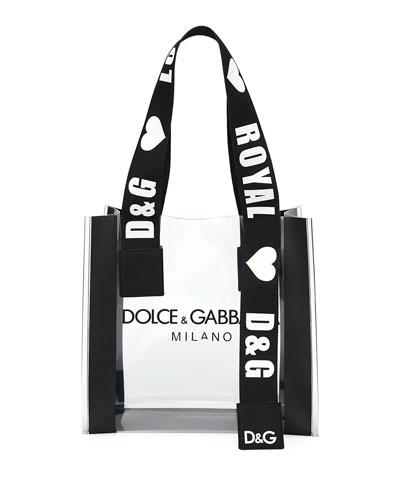 See-Through Screen-Printed Shopping Tote Bag