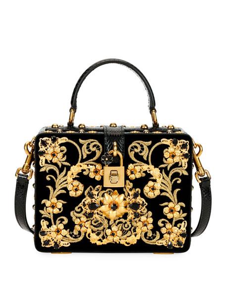Dolce & Gabbana Ricamo Cotton Box Top Handle