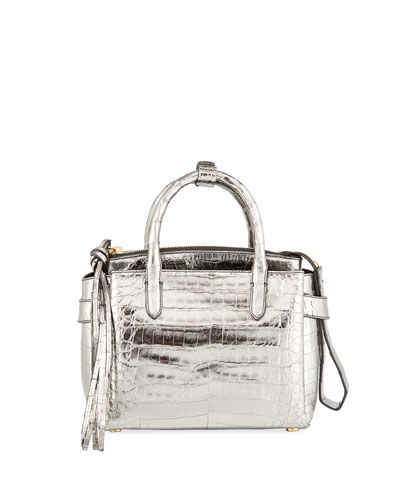 Cristy Small Metallic Satchel Bag