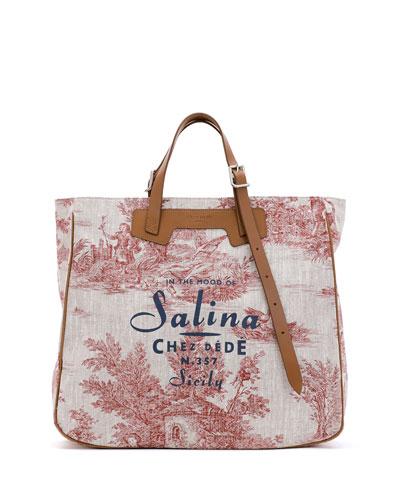 Salina Tall Canvas Tote Bag