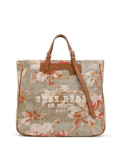 St. Barths Tall Canvas Tote Bag