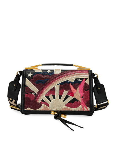 Sunrise Embroidered Shoulder Bag