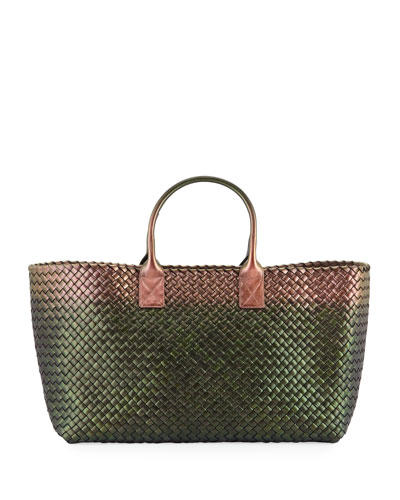 Cabat Scarab Metallic Tote Bag