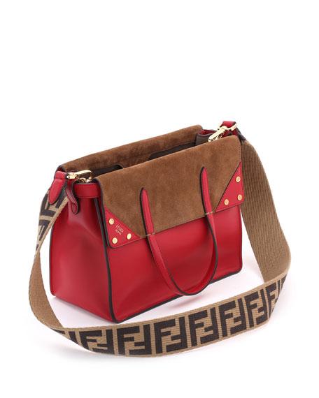cca901158fd6 Fendi Flip Small Grace Leather Tote Bag
