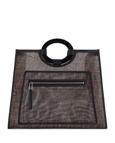 12bac9ed1f Runaway Large FF Mesh Shopping Tote Bag Quick Look. Fendi