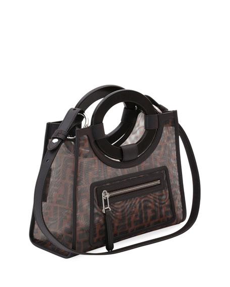 94f8658e7 Fendi Runaway Small Mesh Ff Shopping Tote Bag In Brown | ModeSens